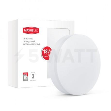 Світильник MAXUS LED настінно-стельовий 18W 4100К (1-LCL-004-07-C) - недорого