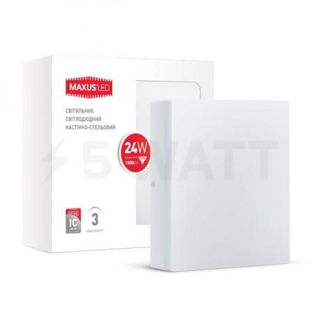 Світильник MAXUS LED настінно-стельовий 24W 4100К (1-LCL-006-06-S) - недорого