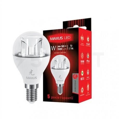 Светодиодная лампа Maxus 1-LED-435 G45 6W 3000K 220V E14 AP - придбати