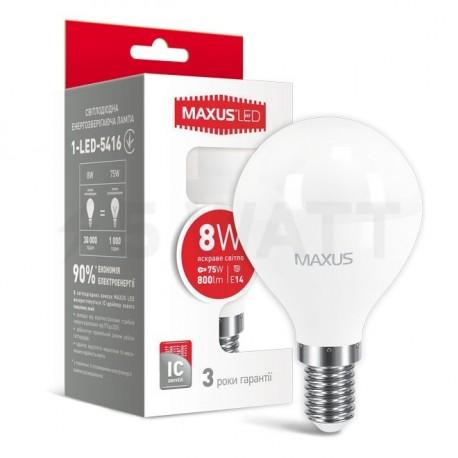 LED лампа MAXUS G45 F 8W 4100K 220V E14 (1-LED-5416) - купить