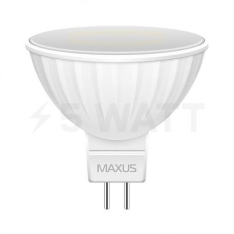 LED лампа MAXUS 3W 3000К MR16 GU5.3 220V (1-LED-143-01)