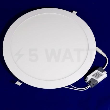 Светильник светодиодный Biom PL-R24 W 24Вт круглый белый - недорого