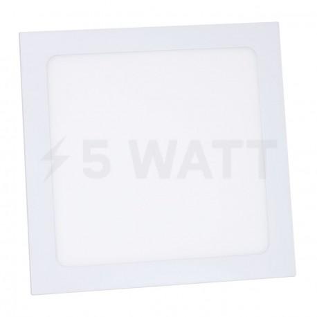Светильник светодиодный Biom PL-S18 W 18Вт квадратный белый