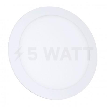 Світильник світлодіодний Biom PL-R18 W 18Вт круглий білий