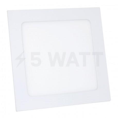 Светильник светодиодный Biom PL-S12 W 12Вт квадратный белый