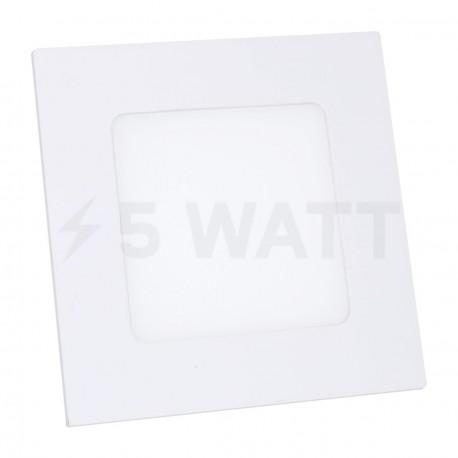 Светильник светодиодный Biom PL-S6 W 6Вт квадратный белый - купить