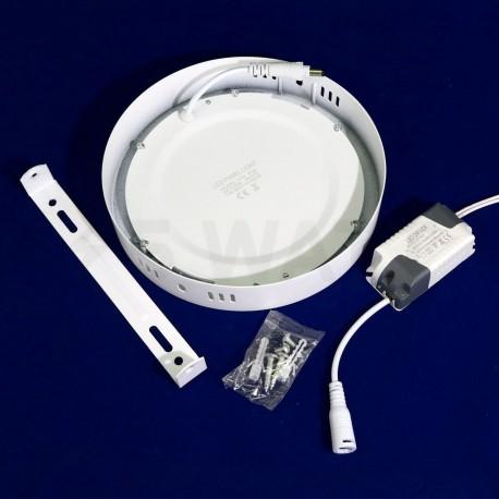 Светильник светодиодный Biom W-R13 W 12Вт накладной круглый белый - в Украине