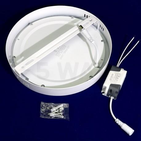 Светильник светодиодный Biom W-R18 W 18Вт накладной круглый белый - в Украине