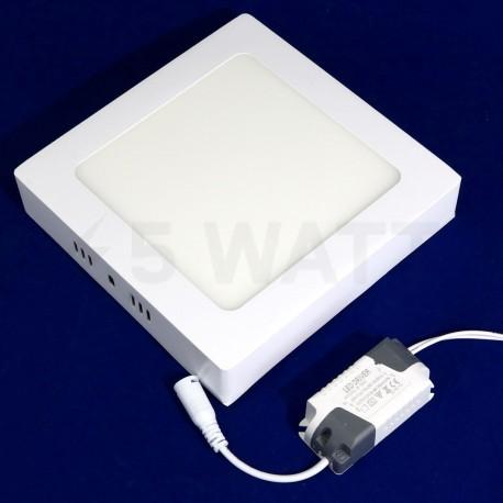 Світильник світлодіодний Biom W-S12 W 12Вт накладний квадратний білий - недорого