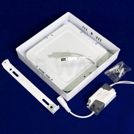 Світильник світлодіодний Biom W-S12 W 12Вт накладний квадратний білий - в Україні