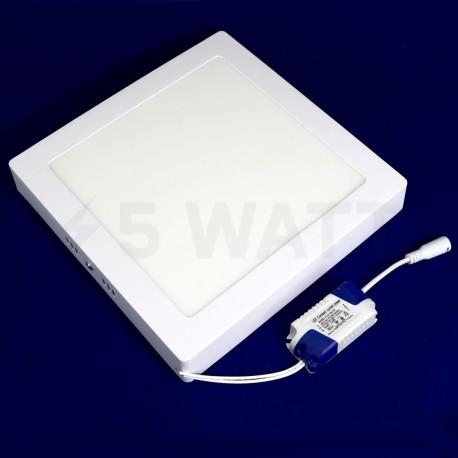 Светильник светодиодный Biom W-S18 W 18Вт накладной квадратный белый - недорого