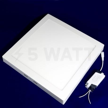 Світильник світлодіодний Biom W-S24 W 24Вт накладний квадратний білий - недорого