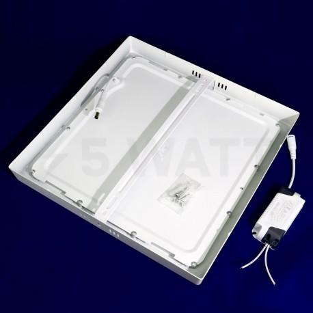 Світильник світлодіодний Biom W-S24 W 24Вт накладний квадратний білий - в Україні