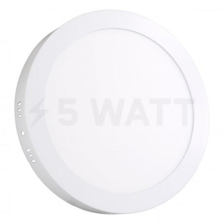 Светильник светодиодный Biom W-R18 W 18Вт накладной круглый белый - купить