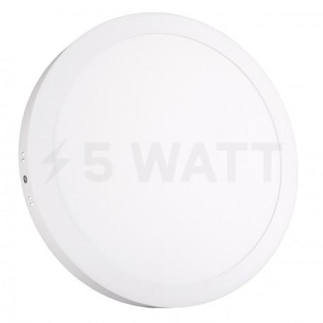 Светильник светодиодный Biom W-R24 W 24Вт накладной круглый белый