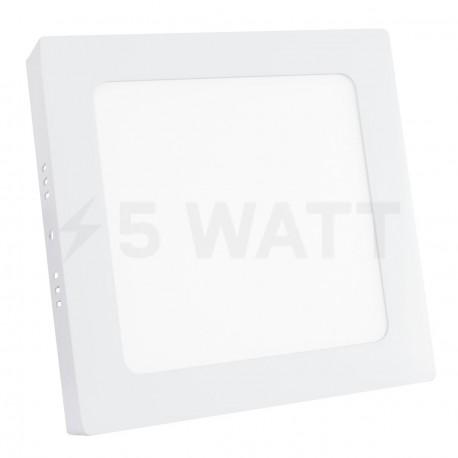 Светильник светодиодный Biom W-S12 W 12Вт накладной квадратный белый - купить