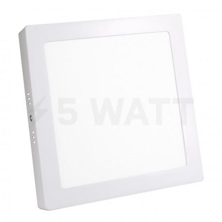 Светильник светодиодный Biom W-S18 W 18Вт накладной квадратный белый - купить