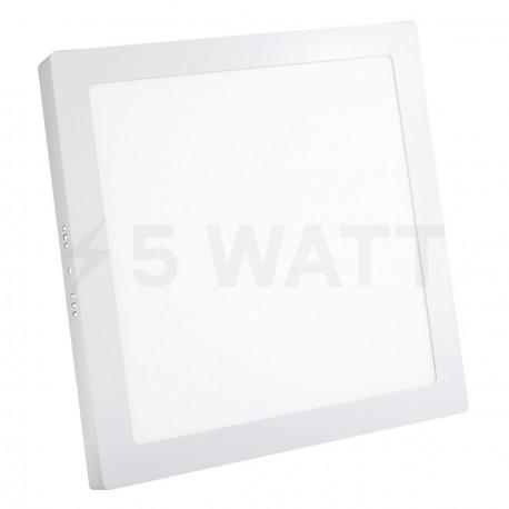 Світильник світлодіодний Biom W-S24 W 24Вт накладний квадратний білий - придбати
