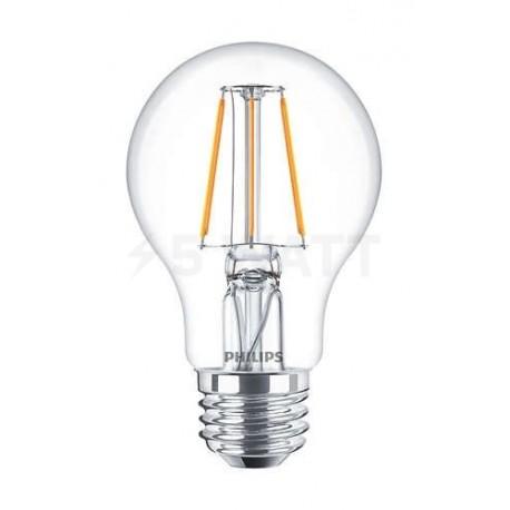 LED лампа PHILIPS LEDClassic A60 4-50W E27 2700K CL ND Filament(929001237108)