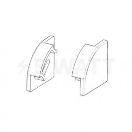 Заглушка BIOM для углового профиля ПУ17 17х17мм - купить