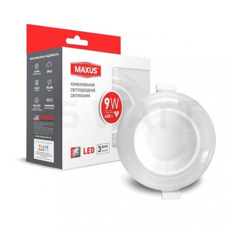 Точковий LED світильник MAXUS 3-step 9W 3000/4100K круглий (1-MAX-01-3-SDL-09-C) - придбати