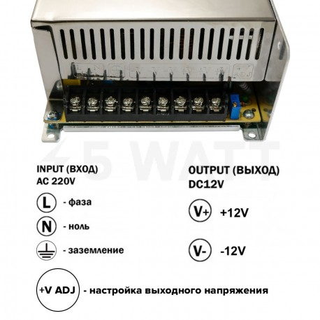 Блок питания OEM DC12 500W 41А TR-500-12 - в Украине