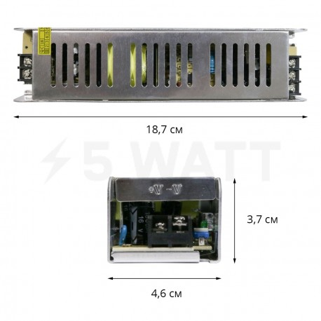 Блок живлення OEM DC12 120W 10А STR-120 вузький - недорого