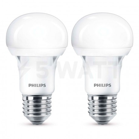 Набор LED ламп PHILIPS Essential LEDbulb A60 5W E27 3000K 230V (8717943885329) - купить