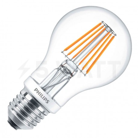 LED лампа PHILIPS LEDClassic A60 7.5-70W E27 2700K WW CL D Filament(929001228008) - придбати