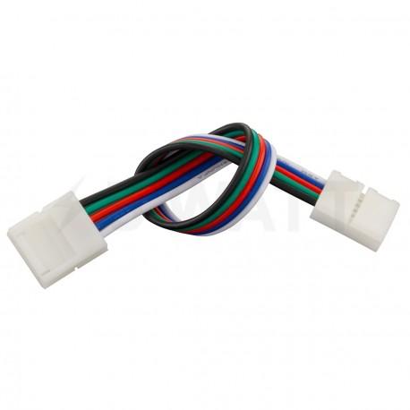 Коннектор для светодиодных лент OEM №22 10mm RGBW 2joints wire (провод-2зажима) - купить