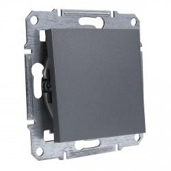 """Выключатель 1-кл. внутр. Schneider""""ASFORA"""" сталь (EPH0100162)"""