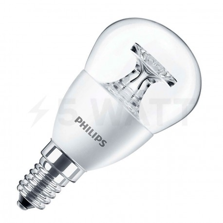 LED лампа PHILIPS LED P45 5.5-40W E14 2700K CL ND (929001142607)