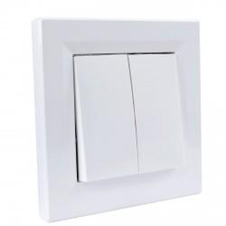 """Выключатель 2-кл. внутр. Schneider""""ASFORA"""" белый (EPH0300121)"""