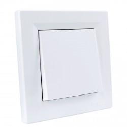 """Выключатель 1-кл. внутр. проходной Schneider""""ASFORA"""" белый (EPH0400121)"""