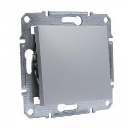 """Выключатель 1-кл. внутр. проходной Schneider""""ASFORA"""" алюминий (EPH0400161)"""