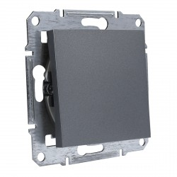 """Выключатель 1-кл. внутр. проходной Schneider""""ASFORA"""" сталь (EPH0400162)"""