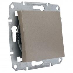 """Выключатель 1-кл. внутр. проходной Schneider""""ASFORA"""" бронза (EPH0400169)"""