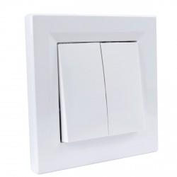 """Выключатель 2-кл. внутр. проходной Schneider""""ASFORA"""" белый (EPH0600121)"""