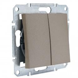 """Выключатель 2-кл. внутр. проходной Schneider""""ASFORA"""" бронза (EPH0600169)"""