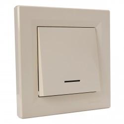 """Выключатель 1-кл. внутр. с подсвет. Schneider""""ASFORA"""" сл.к. (EPH1400123)"""
