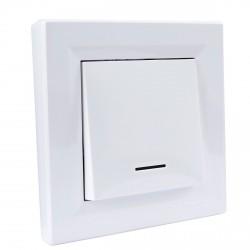 """Выключатель 1-кл. внутр. проходной с подсв. Schneider""""ASFORA"""" белый (EPH1500121)"""