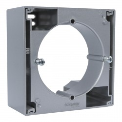 """Коробка для внеш. монтажа одиночная Schneider""""ASFORA"""" алюминий (EPH6100161)"""