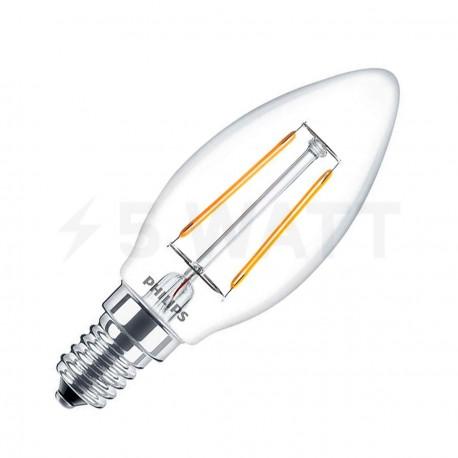 LED лампа PHILIPS LEDClassic B35 2.3-25W E14 2700K ND 1CT Filament(929001180107) - придбати