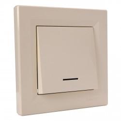 """Выключатель 1-кл. внутр. проходной с подсв. Schneider""""ASFORA"""" сл.к. (EPH1500123)"""
