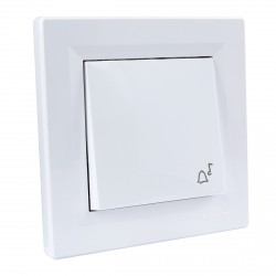 "Кнопка 2-мод. з символом ""Звонок"" Schneider""ASFORA"" белая (EPH0800121)"