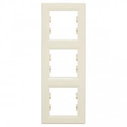"""Рамка 3-х кратная вертикальная Schneider""""ASFORA"""" сл.к. (EPH5810323)"""