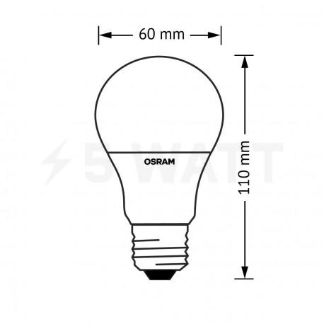 LED лампа OSRAM LED Star Classic A60 10W E27 2700K FR 220-240V(4052899947542) - в Україні
