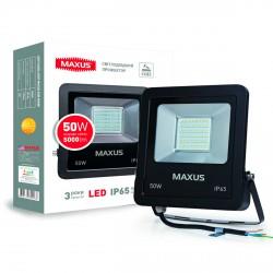 Прожектор LED MAXUS FLOOD LIGHT 50W, 5000K(1-MAX-01-LFL-5050)
