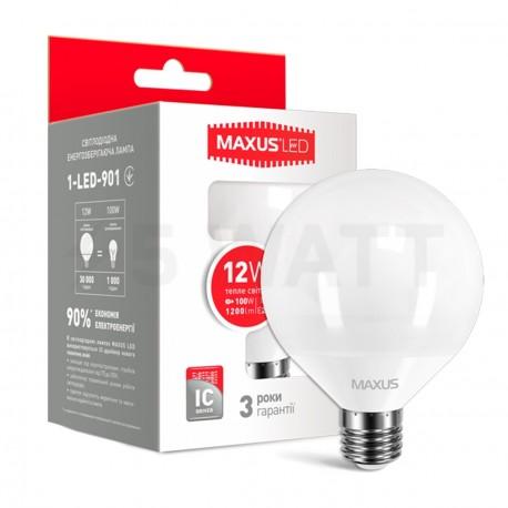 Набор LED ламп MAXUS G95 12W 3000K 220V E27 2шт.(2-LED-901) - купить
