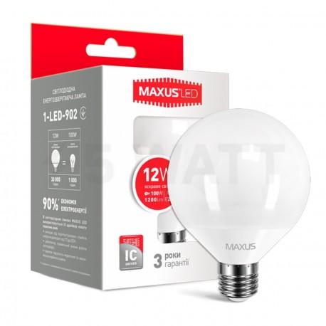 Набор LED ламп MAXUS G95 12W 4100K 220V E27 2шт.(2-LED-902) - купить